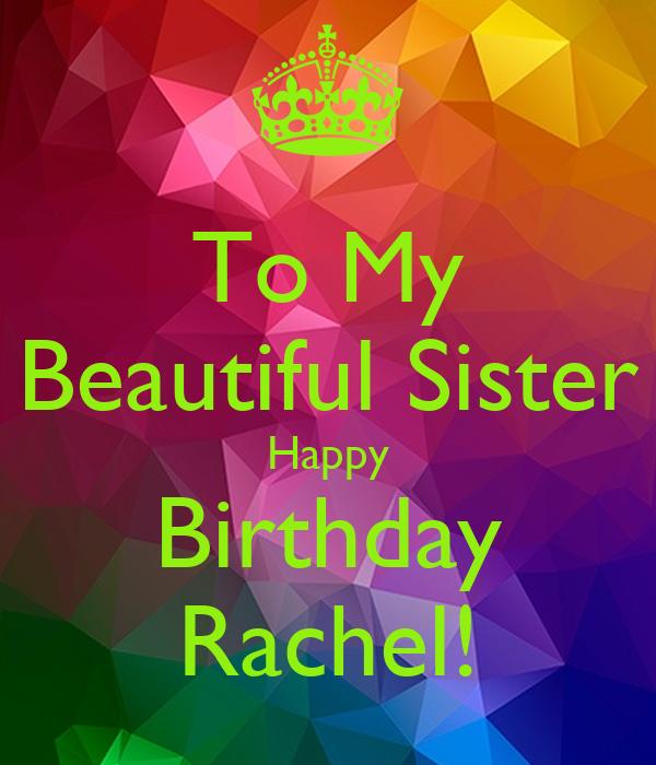 To My Beautiful Sister Happy Birthday Rachel Poster Senita Keep