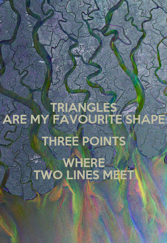 3 points where 2 lines meet triangle