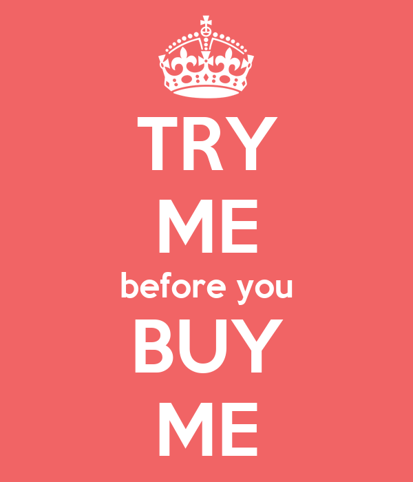 Buy Me: TRY ME Before You BUY ME Poster