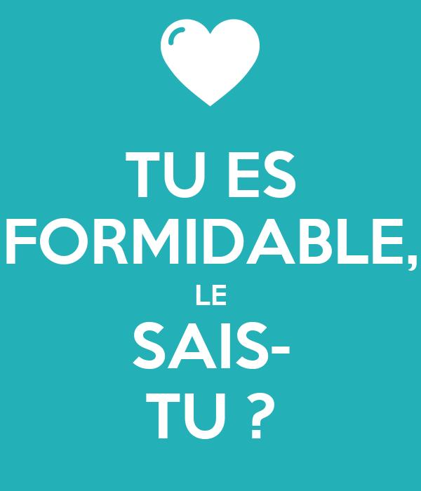 Tu Es Formidable Le Sais Tu Poster
