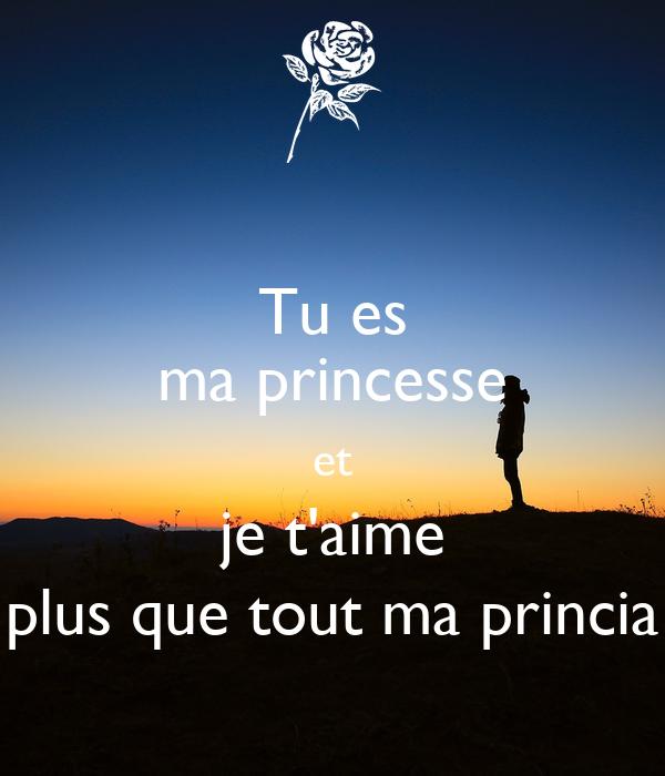 Tu Es Ma Princesse Et Je Taime Plus Que Tout Ma Princia