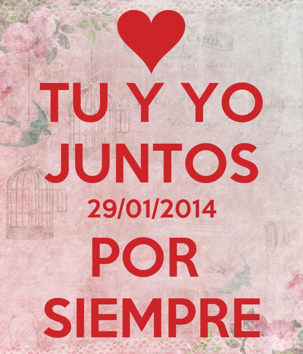 tu y yo juntos 29 01 2014 por siempre poster j keep