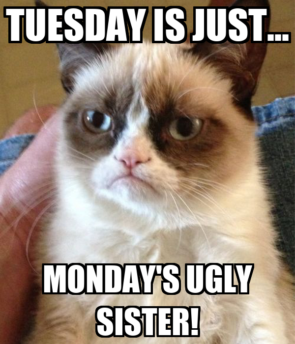 TUESDAY IS JUST MONDAYS UGLY SISTER Poster