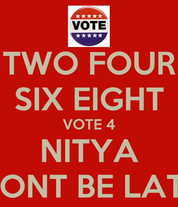 Six Eight Two Two Four Six Eight Vote 4