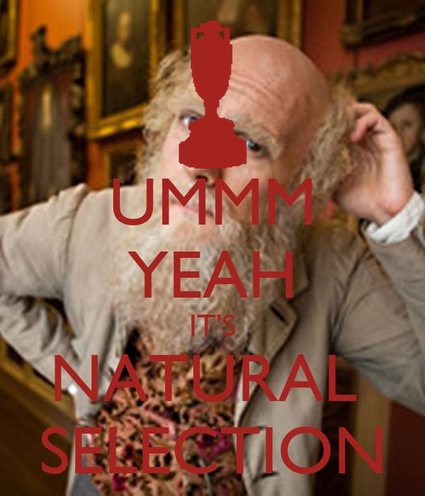 Ummm Yeah Its Natural Selection Poster Akilah Keep Calm O Matic