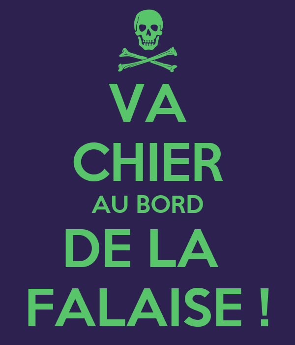 va chier au bord de la falaise poster ivan keep calm o matic. Black Bedroom Furniture Sets. Home Design Ideas