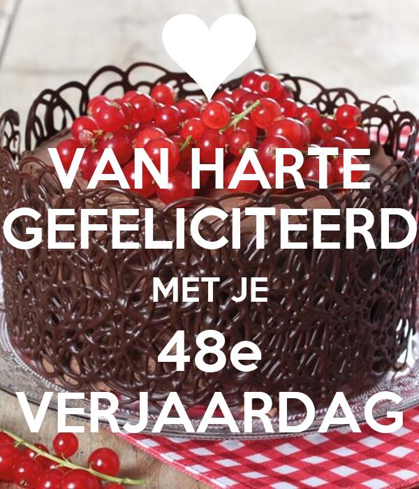 Van Harte Gefeliciteerd Met Je 48e Verjaardag Poster Wiebe Keep