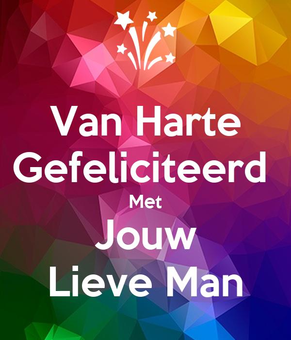 gefeliciteerd man Van Harte Gefeliciteerd Met Jouw Lieve Man Poster | Anita | Keep  gefeliciteerd man