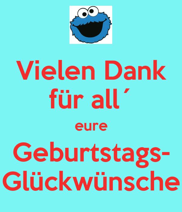 Vielen Dank Fur All Eure Geburtstags Gluckwunsche Poster Didi