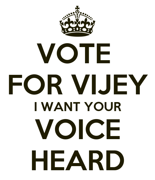 The gallery for --> Your Vote Is Your Voice Poster