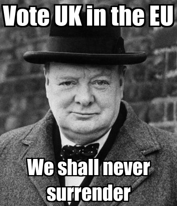 Vote Uk In The Eu We Shall Never Surrender Poster Flicka Keep