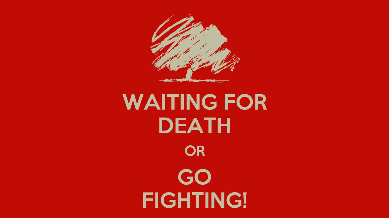 Online Wall Stickers Waiting For Death Or Go Fighting Keep Calm And Carry On