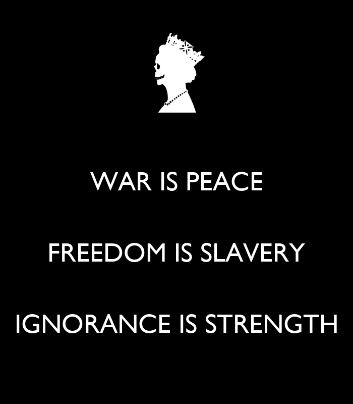 Slavery is not African history. Slavery by Mutabaruka ... War Is Peace Freedom Is Slavery Ignorance Is Strength