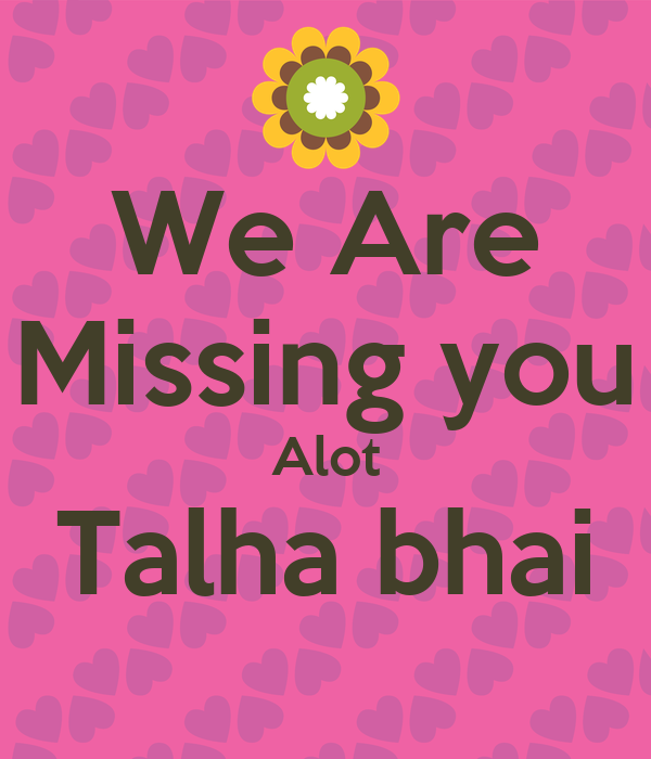 We re missing you