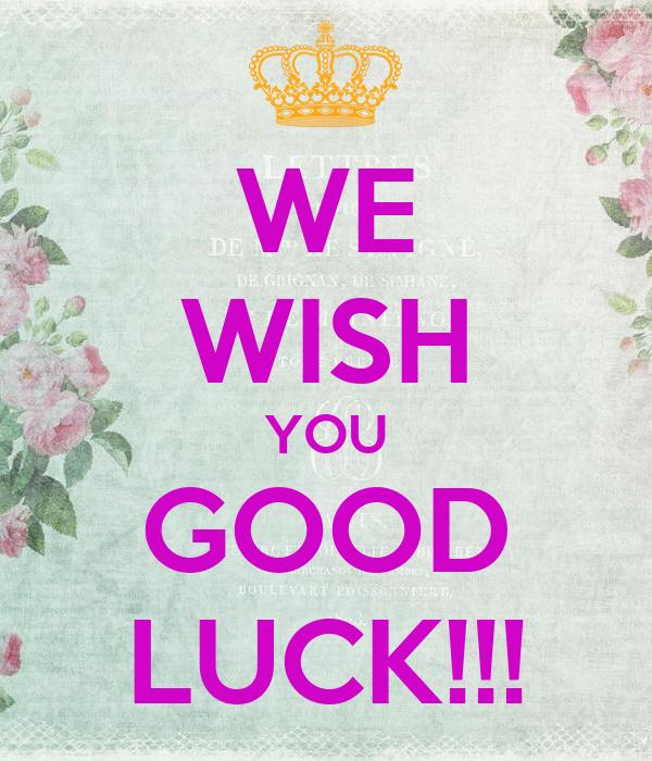 we wish you good luck poster lala keep calm o matic