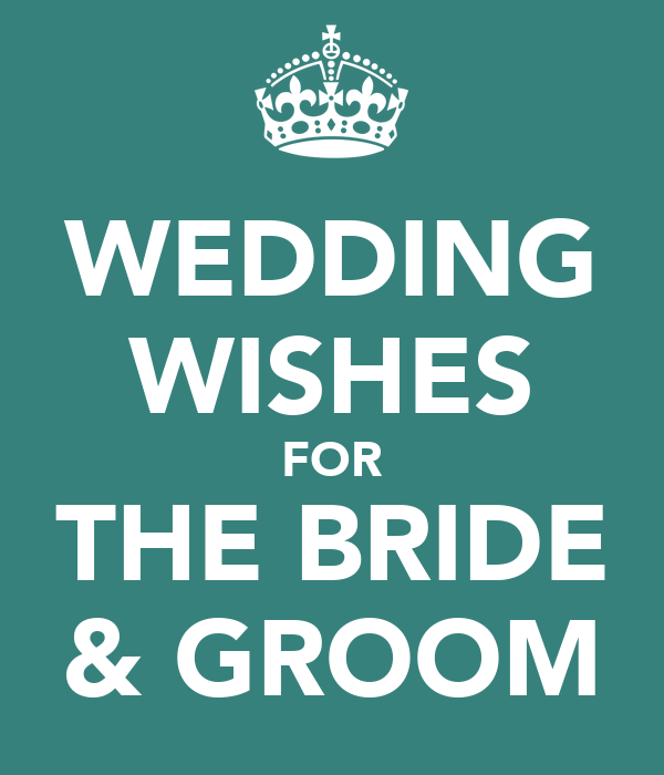 wedding wishes for the bride groom