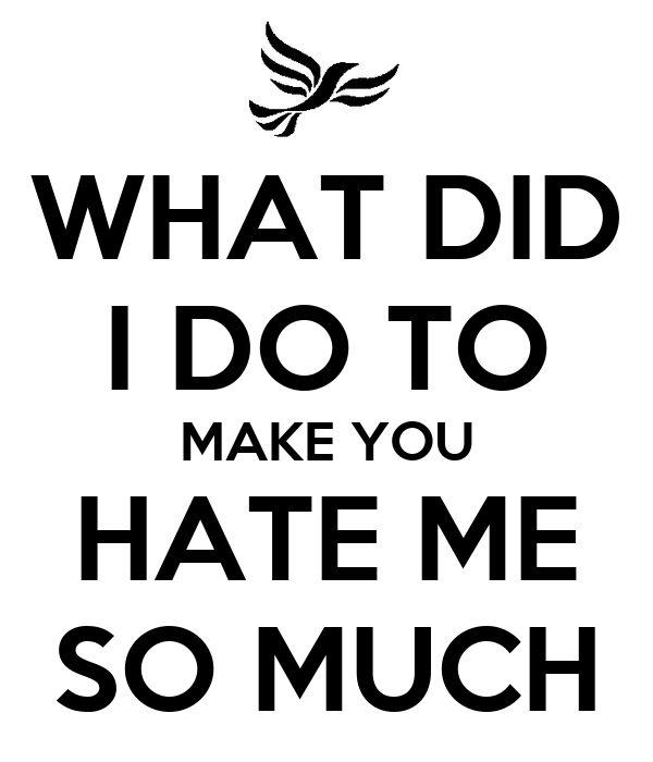 WHAT DID I DO TO MAKE YOU HATE ME SO MUCH Poster