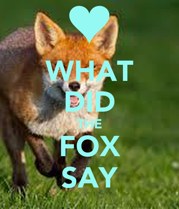 WHAT DID THE FOX SAY - KEEP CALM AND CARRY ON Image Generator - photo#3