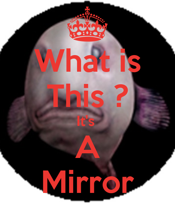 What is this it 39 s a mirror poster ice cream keep for Mirror 0 matic