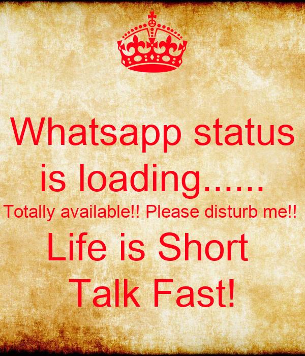 Whatsapp status is loading перевод - de74e