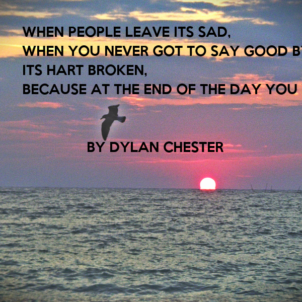 how to say the end