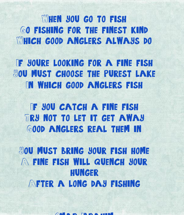 When you go to fish go fishing for the finest kind which for Is fish good for you