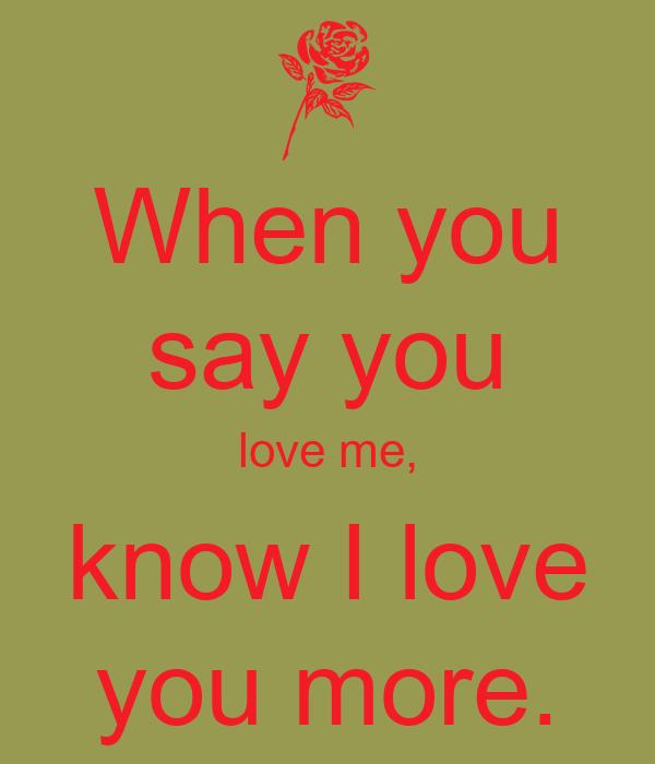 If you say that you love me lyrics