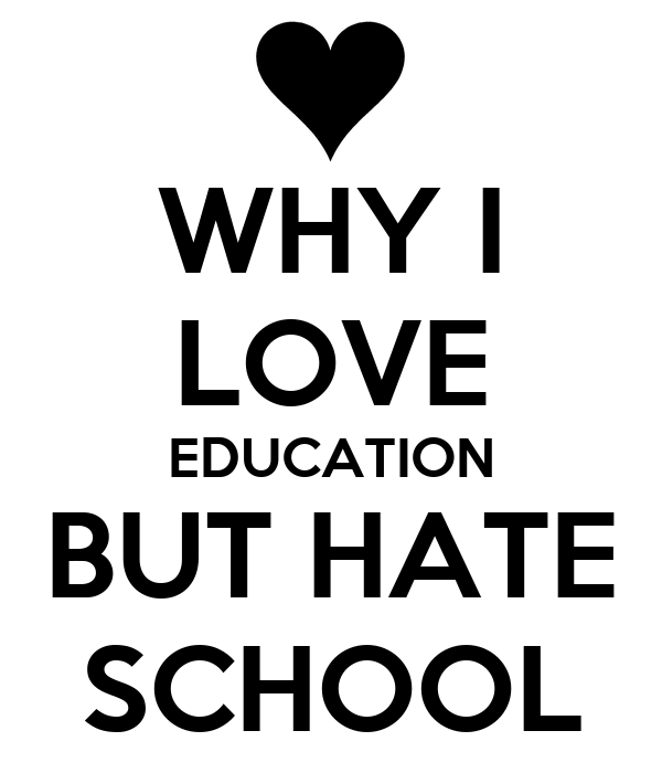 why i hate school I hate everything about school bullies because i can't stand seeing people being  teased [i stand up to them] waking up early i have to wake up 5 hours earlier.