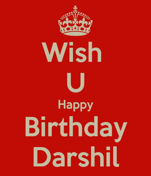 Wish U Happy Birthday Darshil Poster