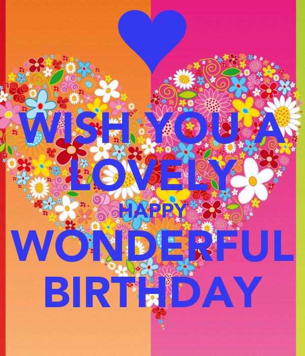 Wish You A Lovely Happy Wonderful Birthday Poster Aly I Wish You A Happy Birthday