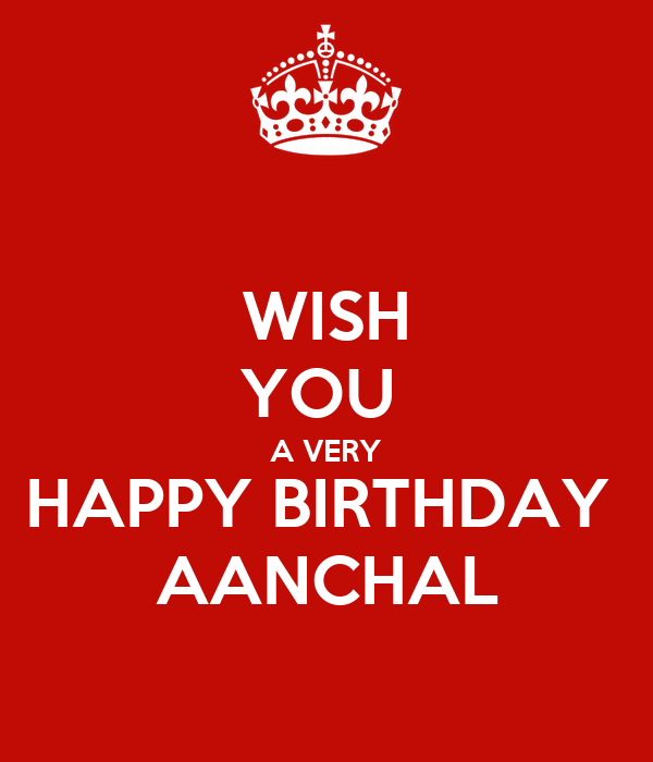 Wish You A Very Happy Birthday Aanchal Poster Mridul I Wish You A Happy Birthday