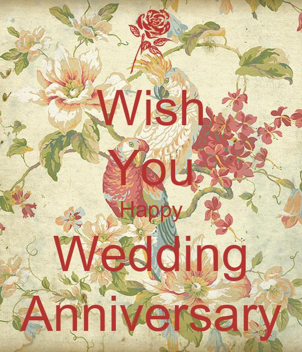 Wish You Happy Wedding Anniversary Poster