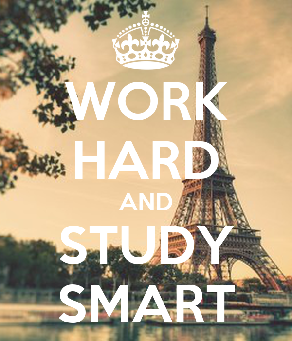WORK HARD AND STUDY SMART Poster | ㄷㄴ | Keep Calm-o-Matic