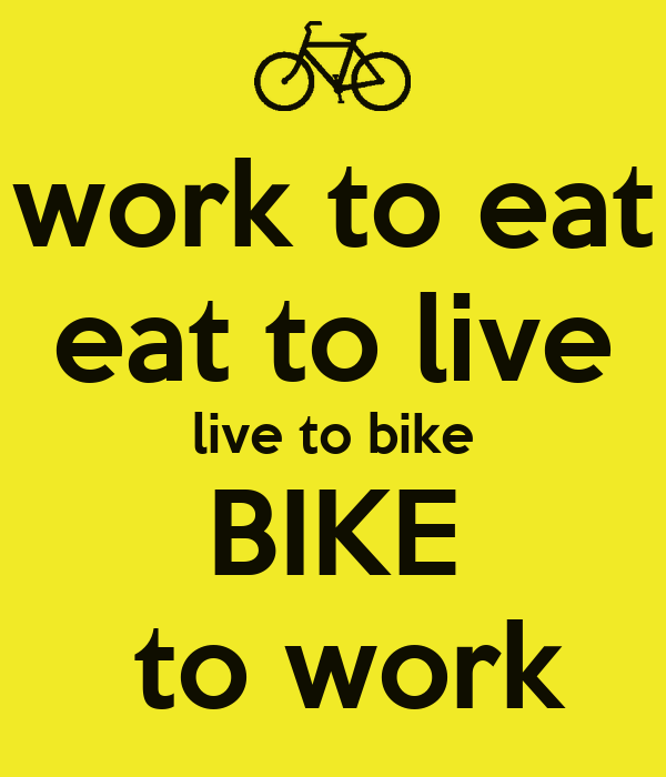 To eat to live or to live to eat