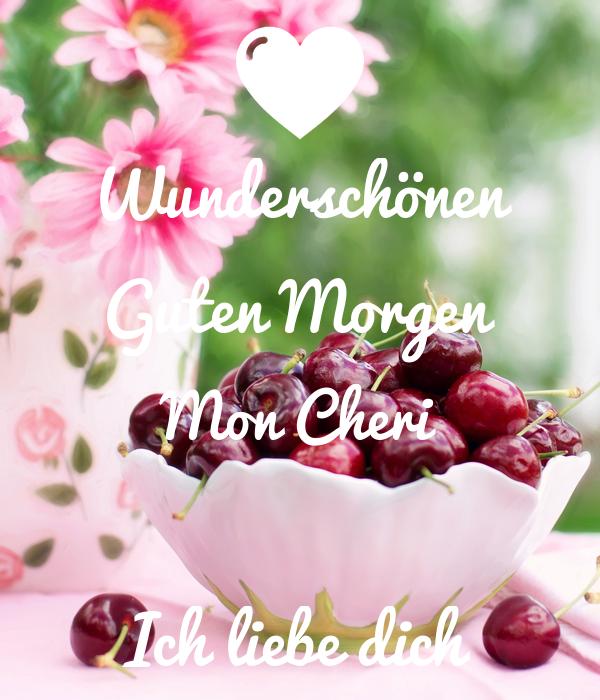 Wunderschönen Guten Morgen Mon Cheri Ich Liebe Dich Poster