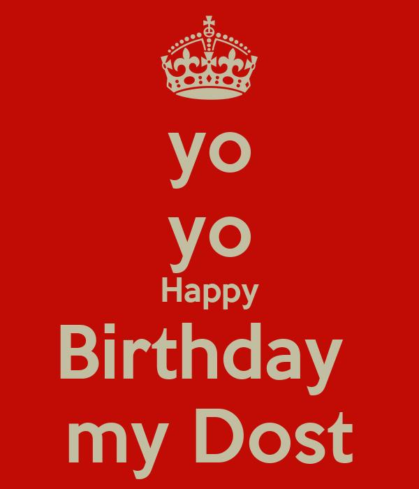My Yo yo yo birthday my dost poster neetu keep calm o matic