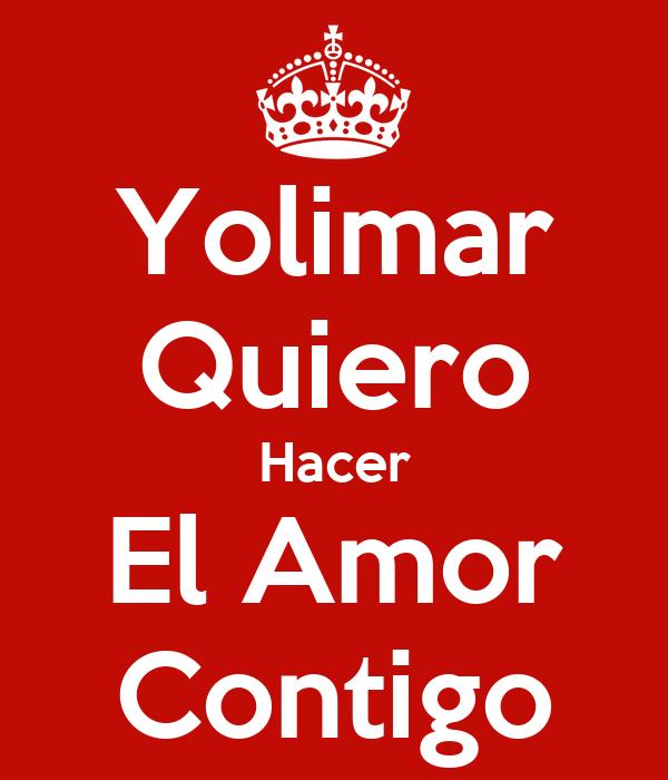 Yolimar Quiero Hacer El Amor Contigo Poster | Juan Vale ...