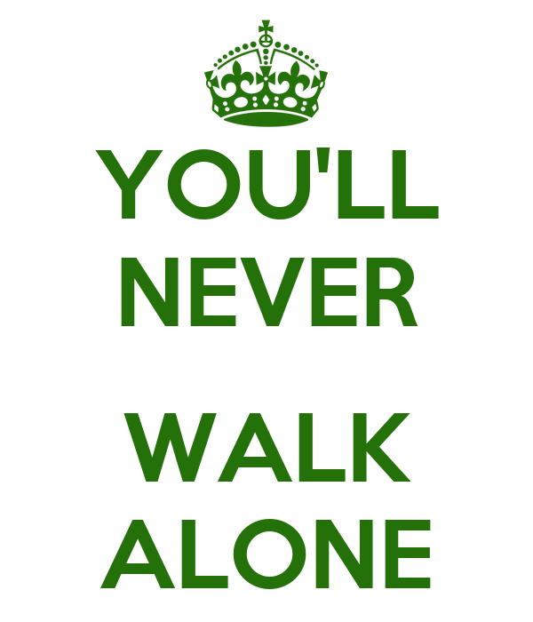 you 39 ll never walk alone poster aaron keep calm o matic. Black Bedroom Furniture Sets. Home Design Ideas