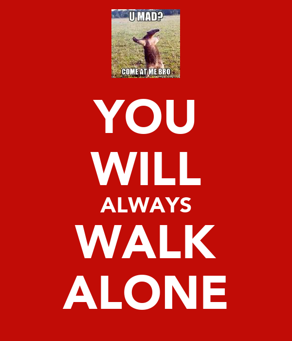 You Will Always Walk Alone Poster Jake Keep Calm O Matic