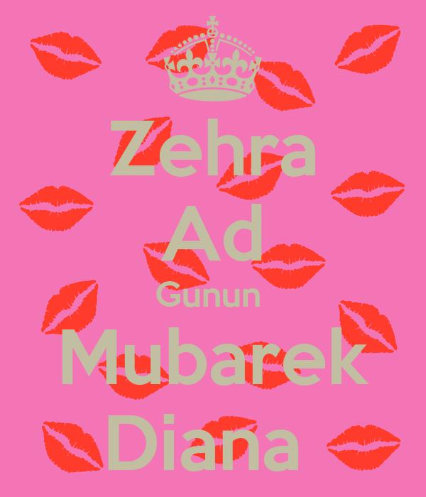 Zehra Ad Gunun Mubarek Pikcek Sekiller