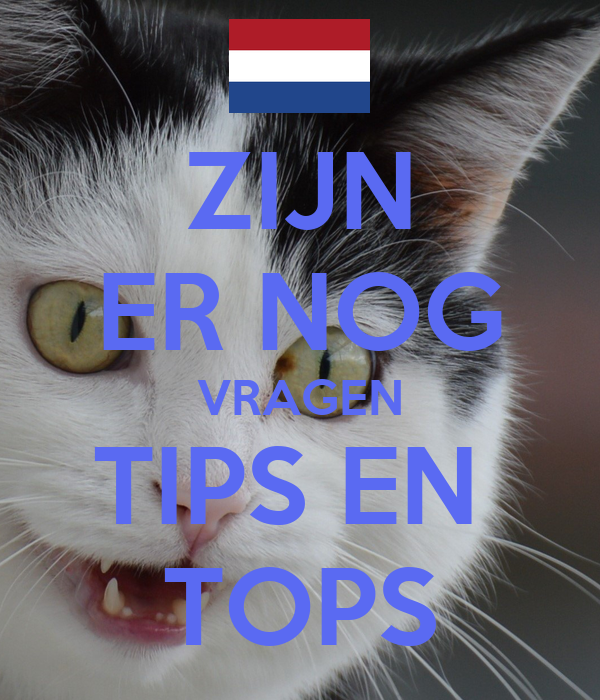 ZIJN ER NOG VRAGEN TIPS EN TOPS Poster